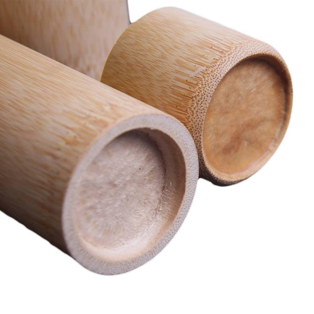 Recipiente redondo de bambú para almacenamiento de té, recipiente de tapa de bote de té portátil respetuoso con el medio ambiente, hecho a mano, suministros de arte para té
