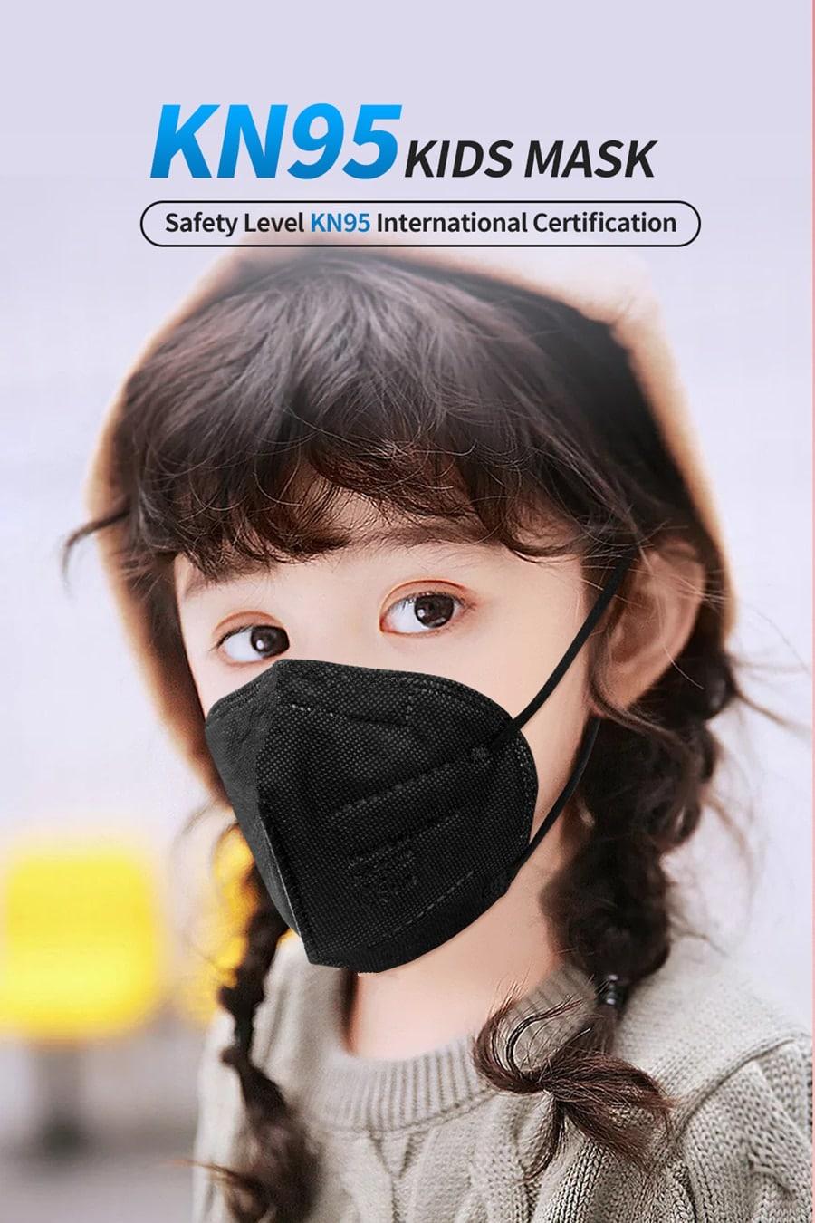 Los niños reutilizable FFP2 máscara KN95 aprobado Mascarillas FPP2 Ffp2mask negro niños máscaras FFP 2 FFP3 protección boca Maske CE
