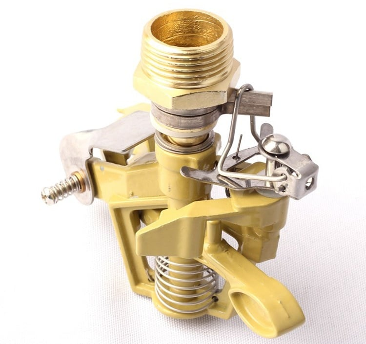 Zn-aleación G 1/2 ''G 3/4'' aspersores rotativos de rosca macho ajustable 25 ~ 360 grados boquilla de riego por pulverización accesorios de riego de césped
