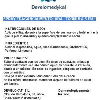Develokat gel hidroalcoholico instrucc
