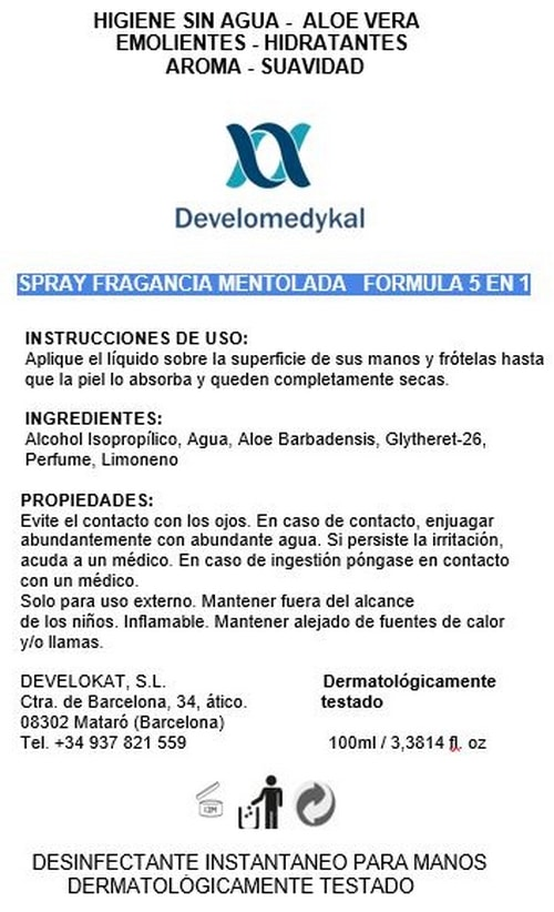 Gel hidroalcoholico Develokat