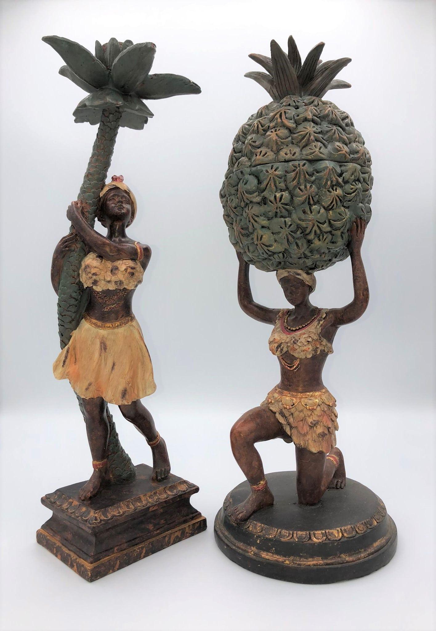 Figura caribeña con palmera