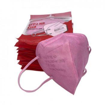 mascarilla ffp2 rosa 5 capas autofiltrante 4