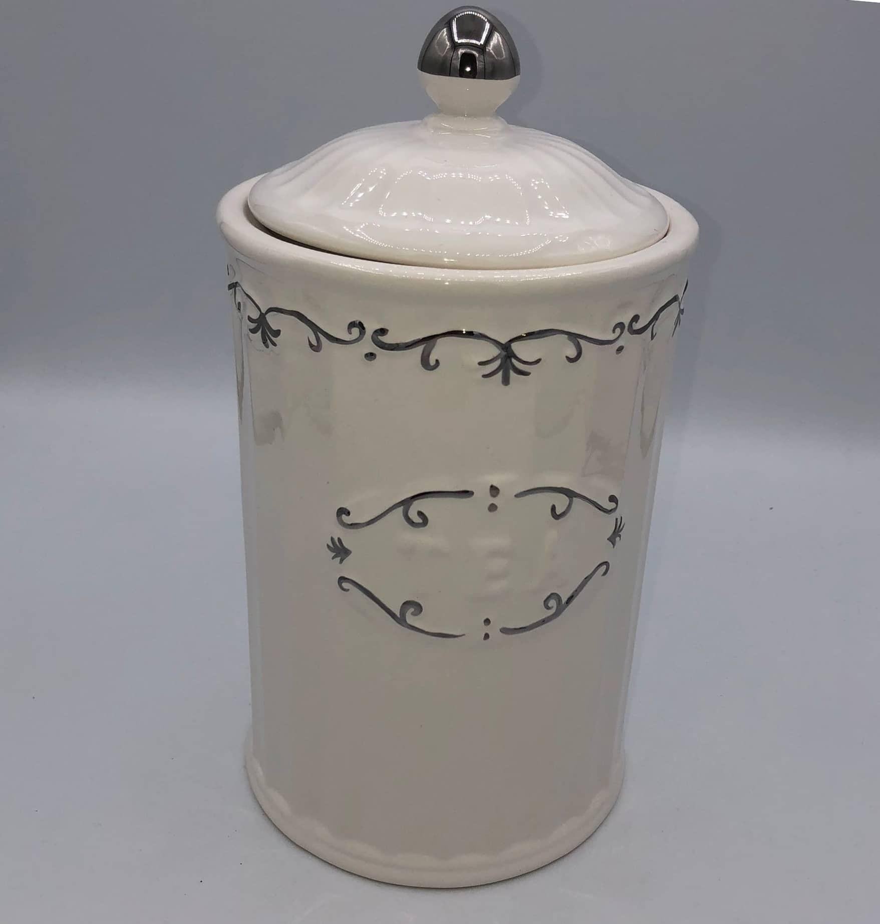 Bote o tarro de cerámica para té