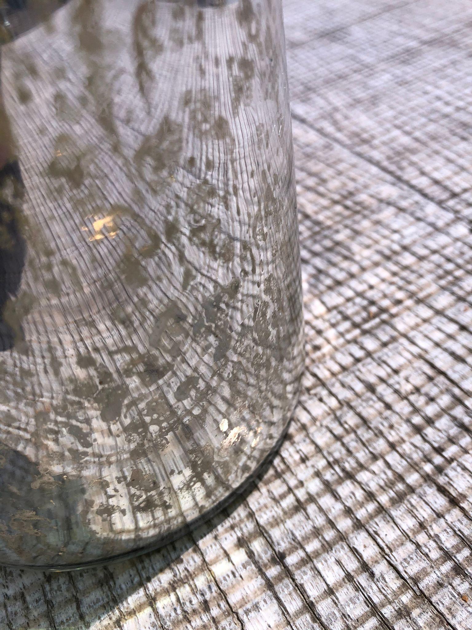 Bote plateado de cristal lacado