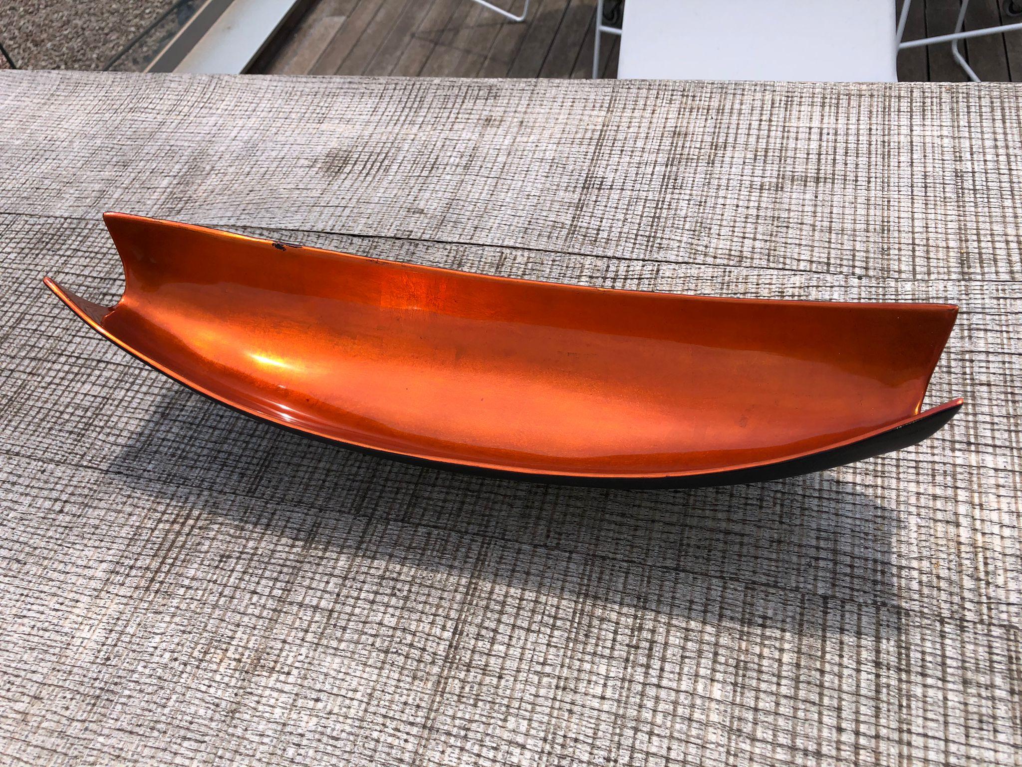 Centro de mesa color naranja