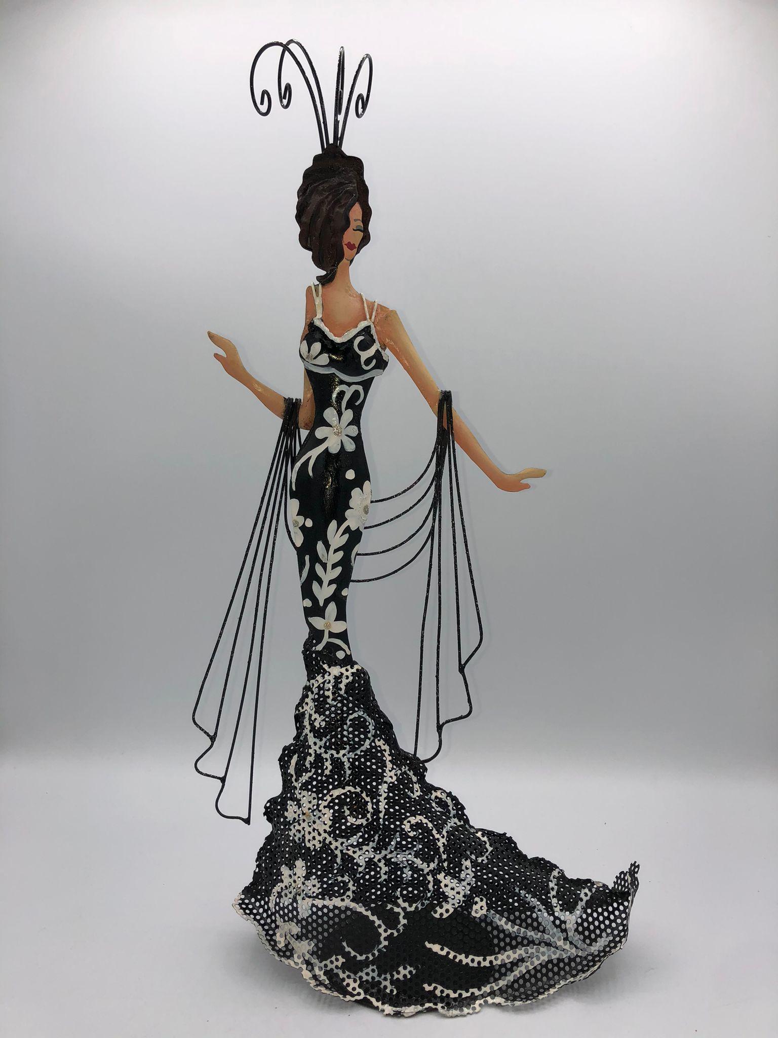 Colgador de joyas mujer flamenca