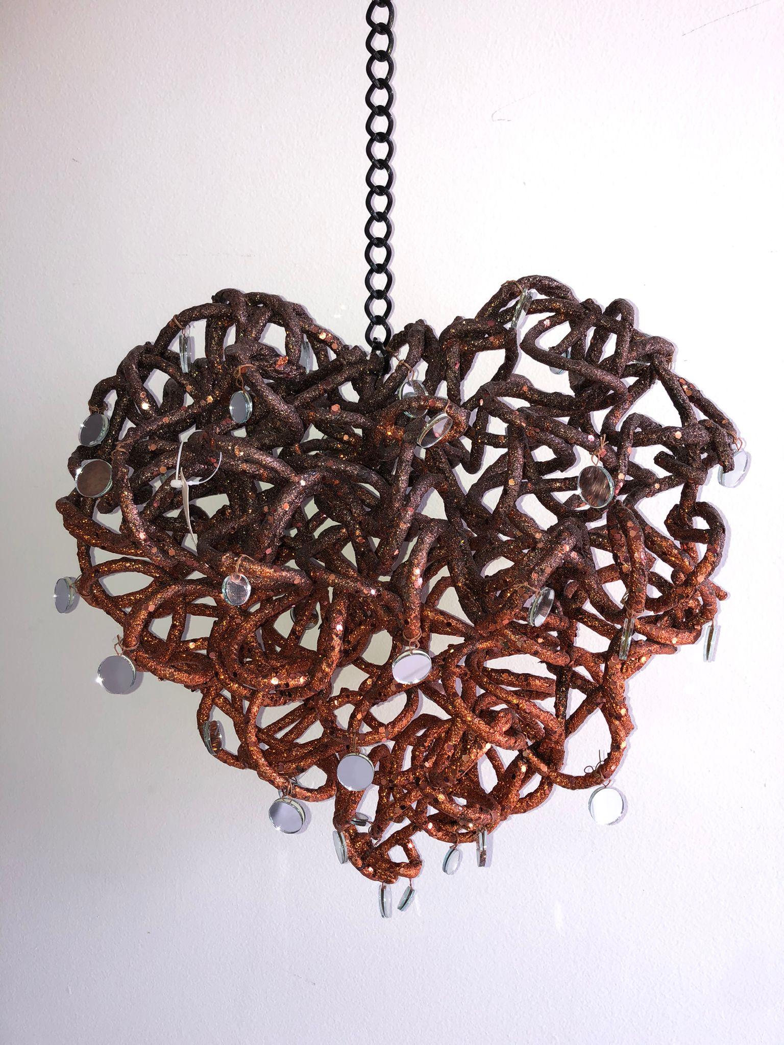 Figura decorativa en forma de corazón