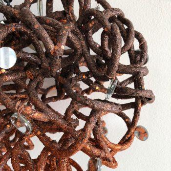 Corazon decorativo cobre 4
