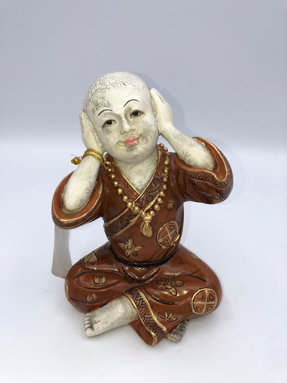 Figura de buda de cerámica
