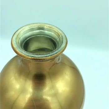 Jarron dorado cristal 5