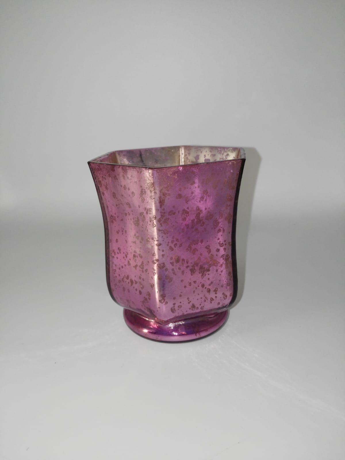 Jarrón cristal rosa fucsia