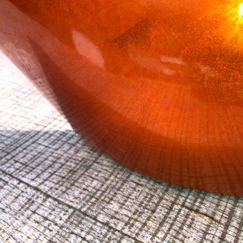 Jarron naranja metalizado 1