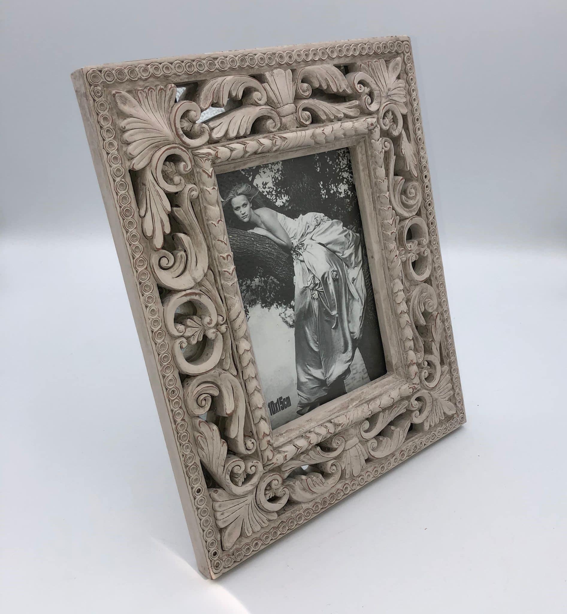 Marco de fotos gris blanco 3