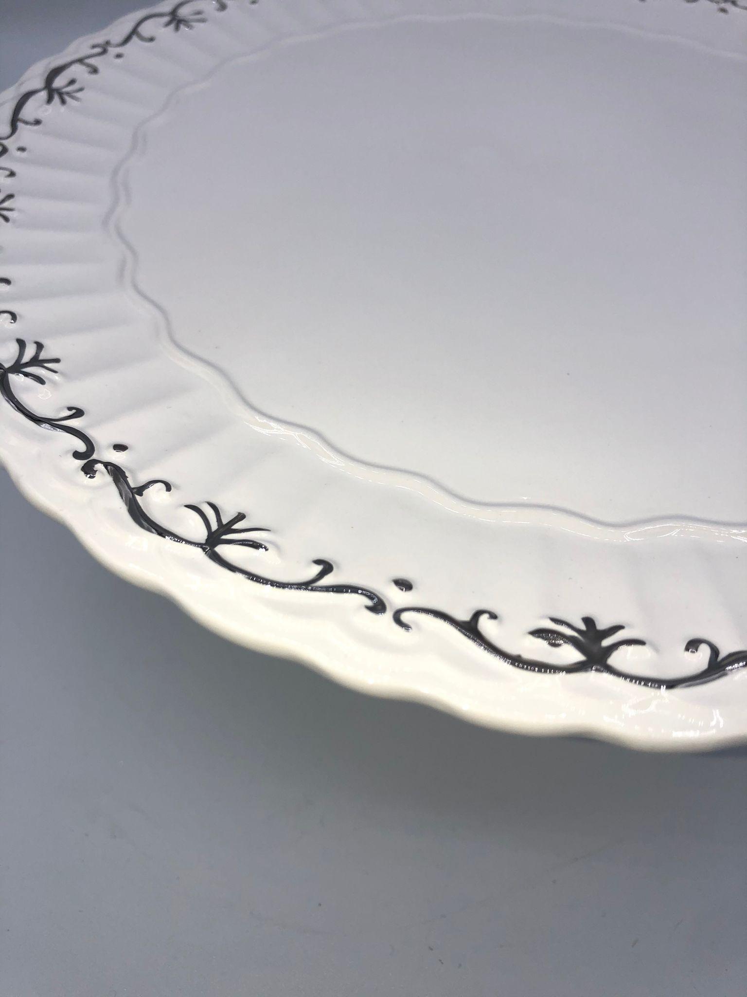 porta tartas de porcelana