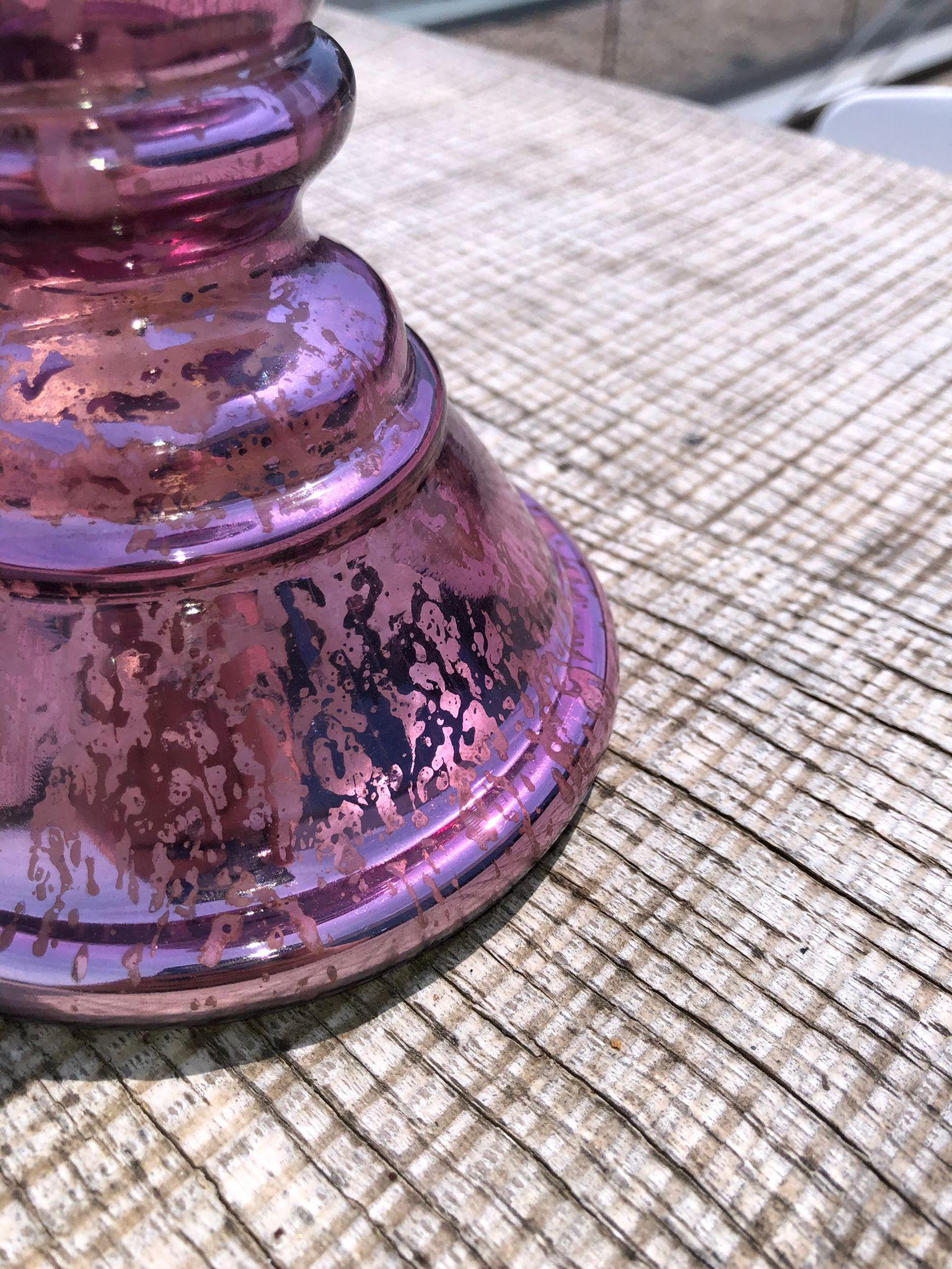 Porta velas rosa 2