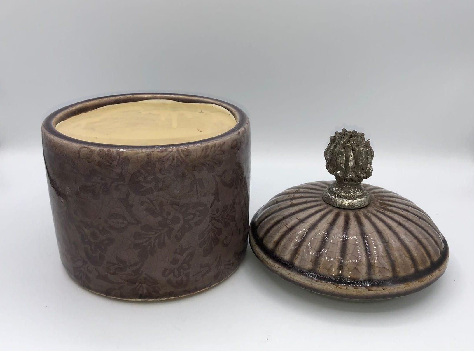 Recipiente de ceramica marron 3