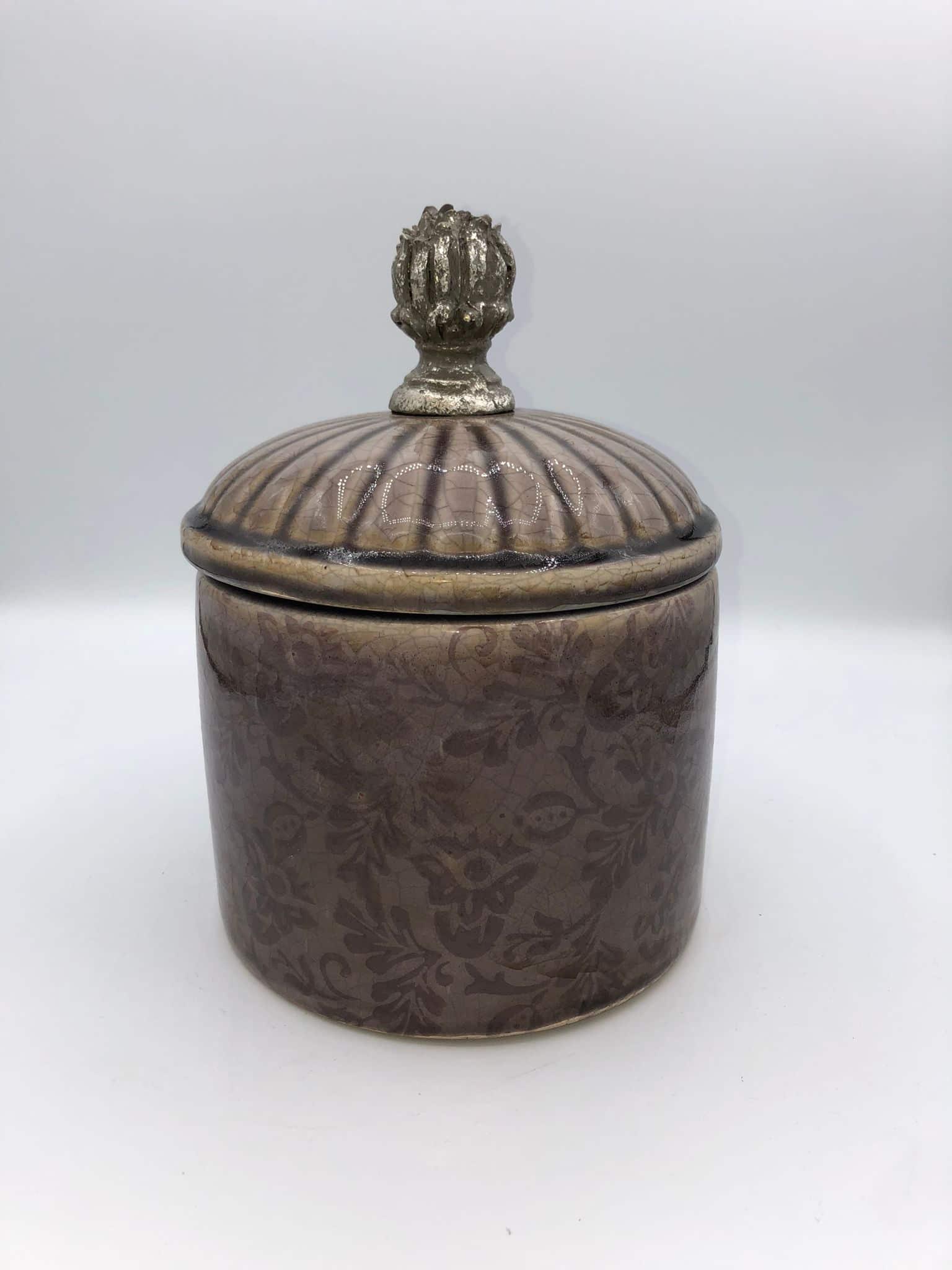 Bote decorativo de cerámica